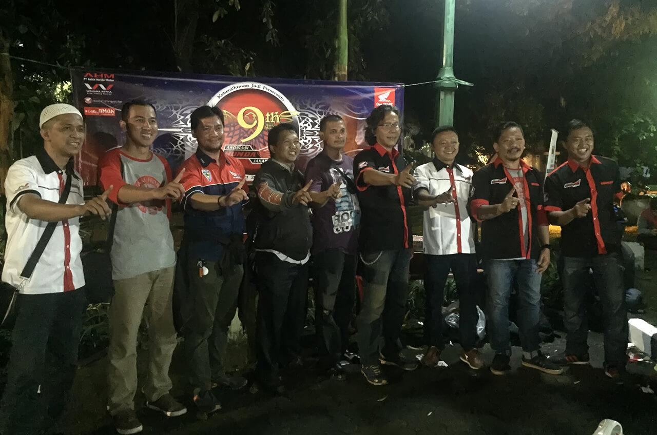 Asosiasi Honda Jakarta 9 Tahun Penuh Keakraban Dan Kekeluargaan