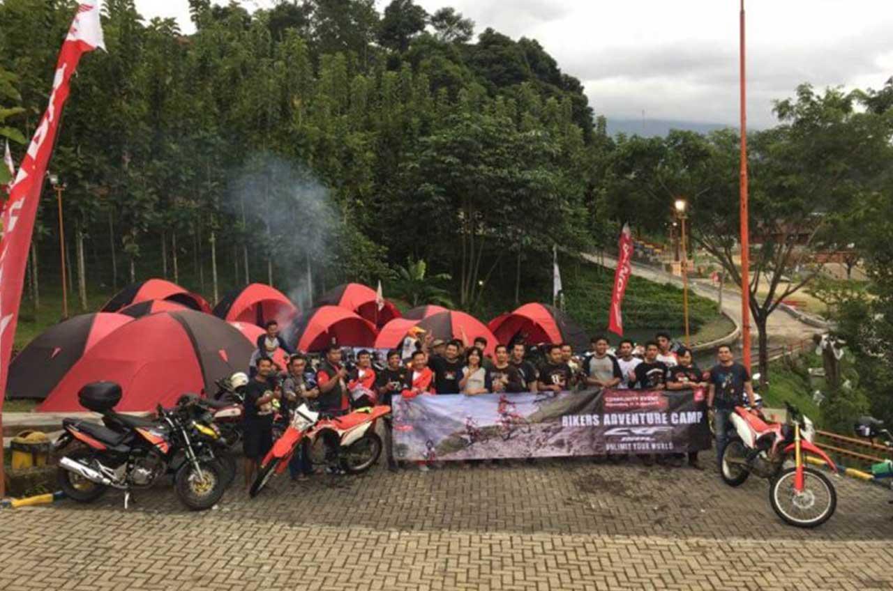 Komunitas Honda Kemah Sambil Jajal CRF150L