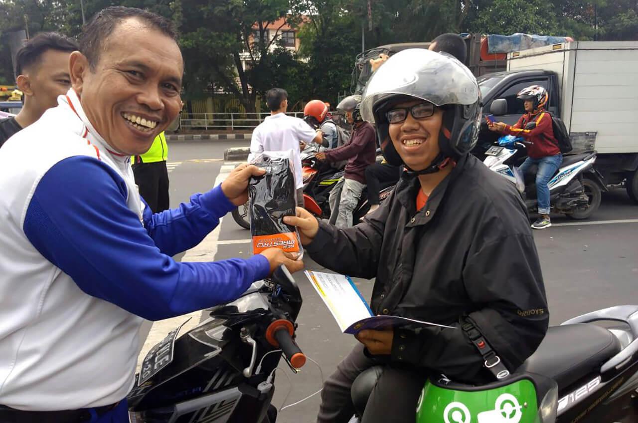 Kampanye Berkendara Aman, Wahana Aksi Turun Ke Jalan