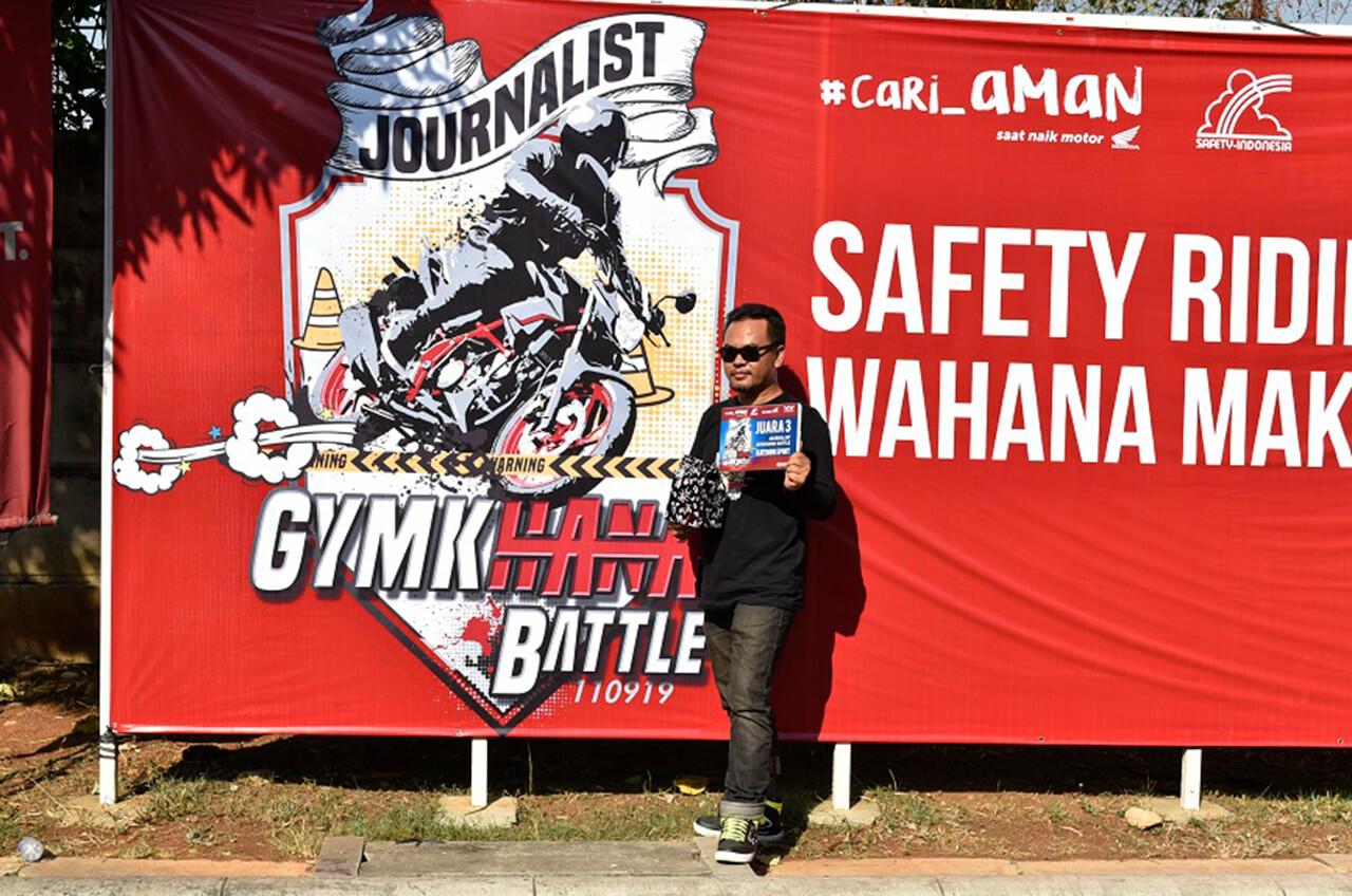 Media 'Adu Jago' Naik Motor Lewat Kontes Gymkhana