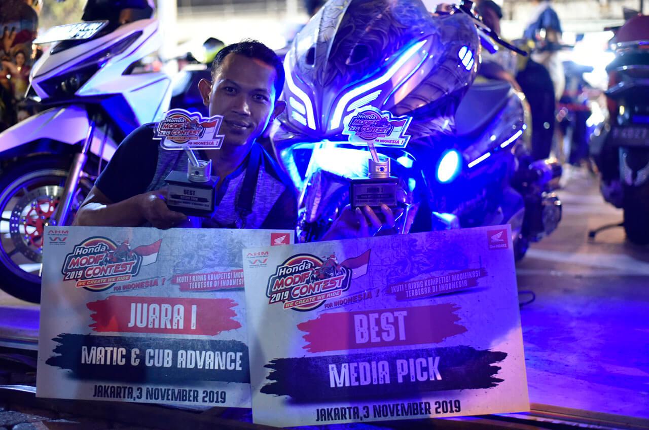 Honda Modif Contest Jakarta 'Banjir' Ide Dan Kreatifitas