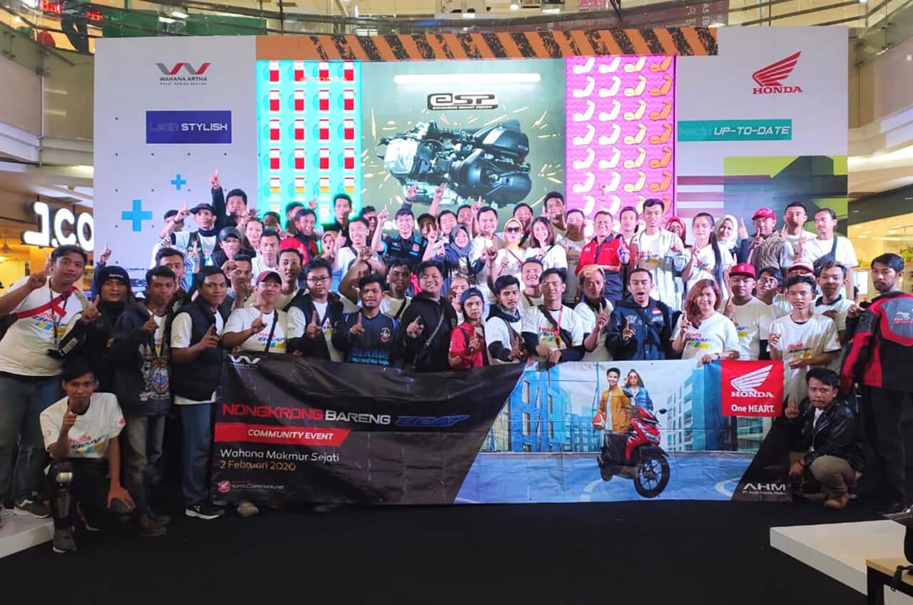 Pecinta Honda BeAT 'Kepung' Jakarta