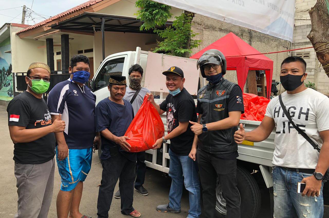Rebel Owner Community Prihatin Kondisi Terkini, Terjun Langsung Bagikan Sembako