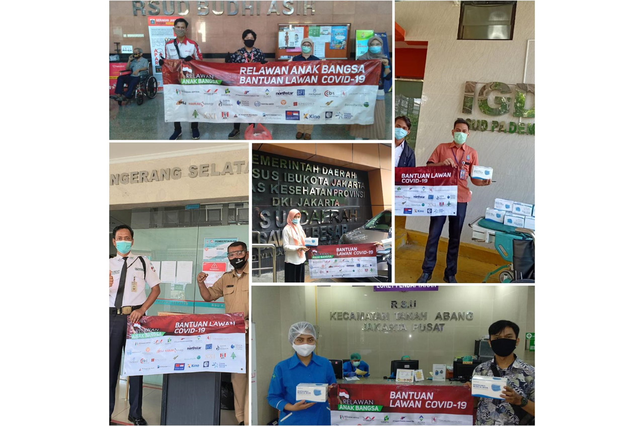 Relawan Anak Bangsa Donasi Puluhan Ribu APD Untuk Garda Terdepan Lawan Covid 19