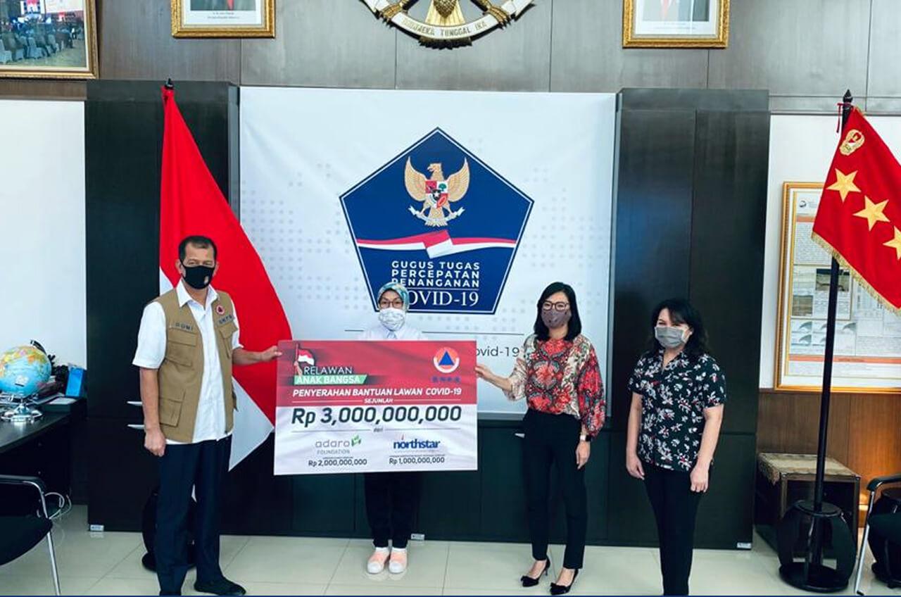 Relawan Anak Bangsa Fasilitasi Donasi Masker Dan 3 Miliar Pada BNPB