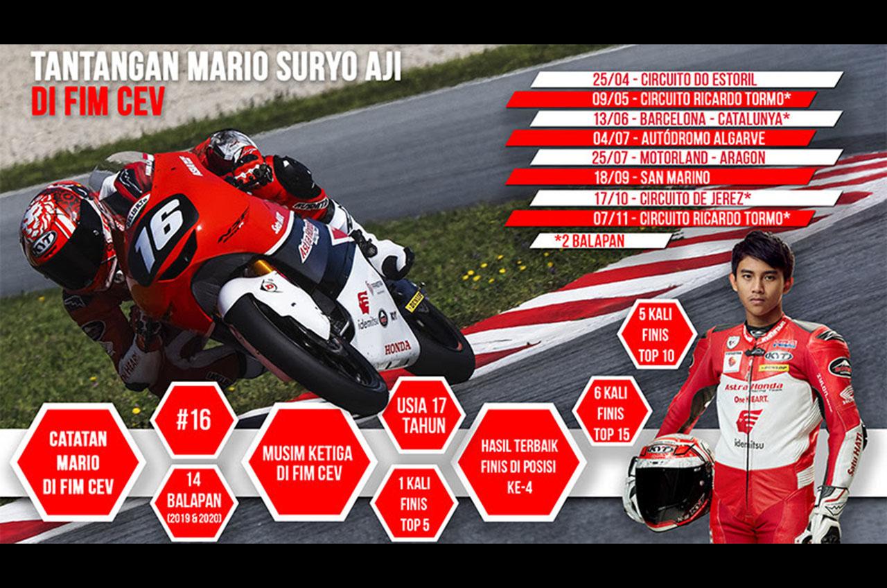 Mario Suryo Aji Siap Jalani Musim Ketiga FIM CEV Dalam Kondisi Terbaik
