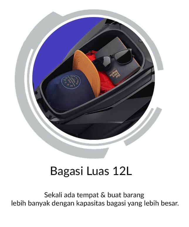 Bagasi Luas 12L