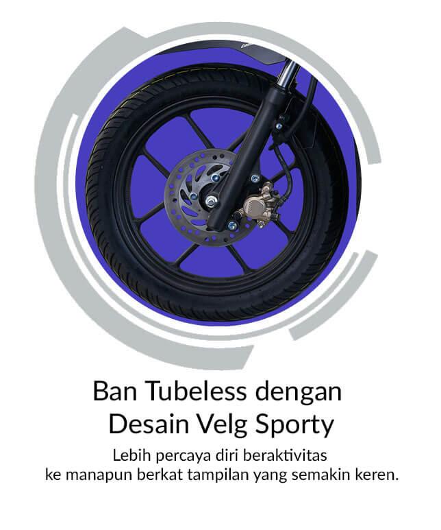Ban Tubeless Dengan Desain Velg Sporty
