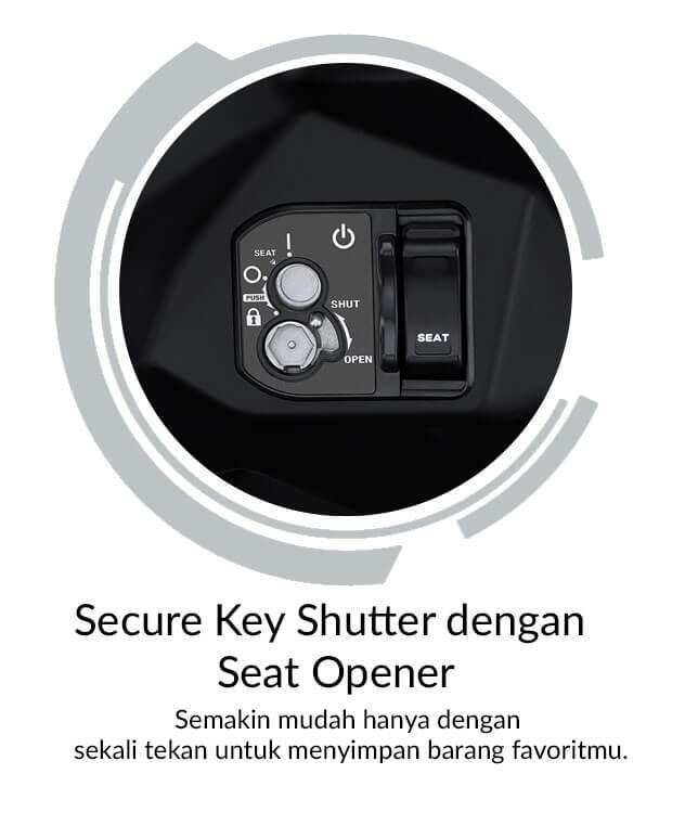 Secure Key Shutter Dengan Seat Opener