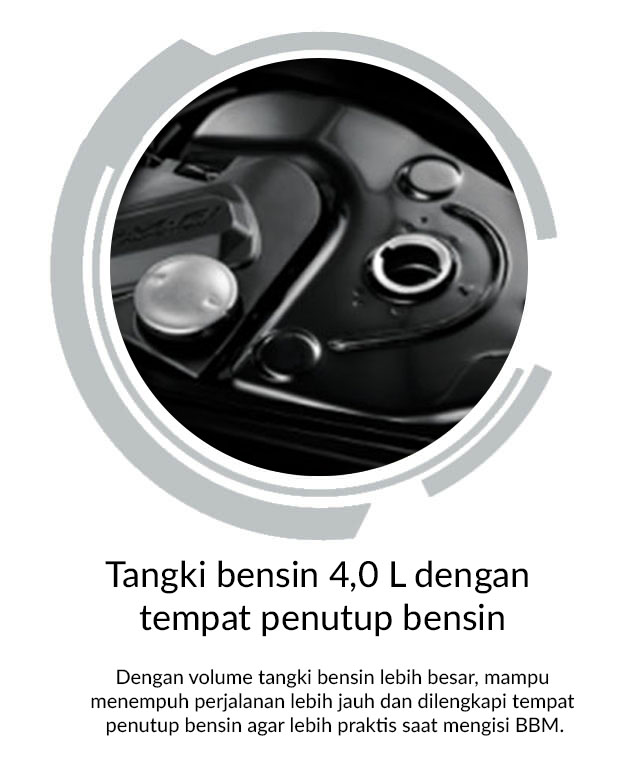 Tangki Bensin 4,0 L Dengan Tempat Penutup Bensin