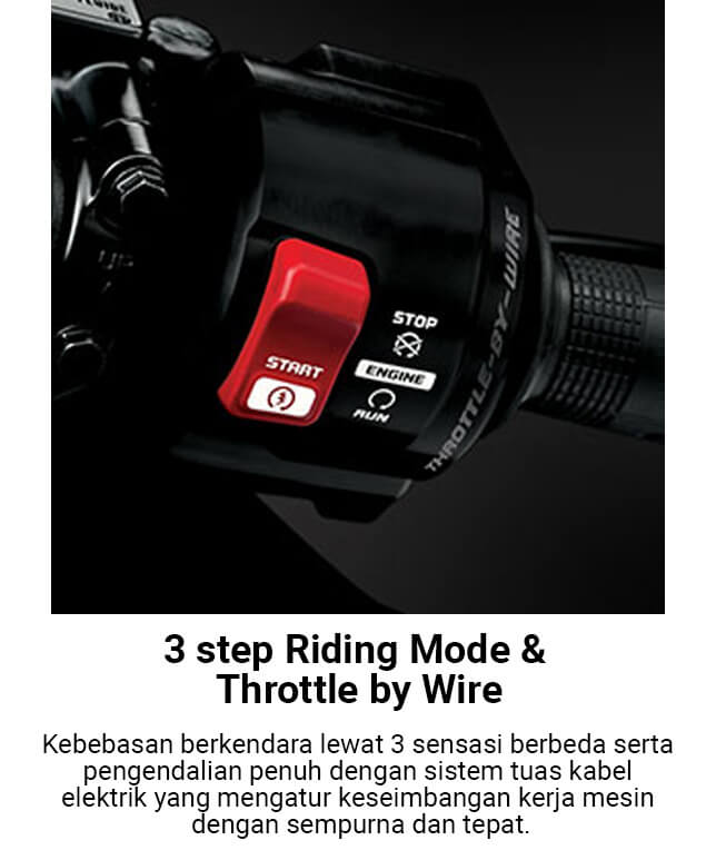 3 Step Riding Mode & Throttle By Wire