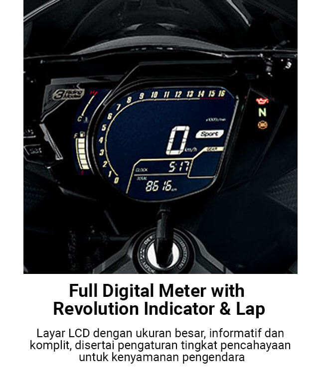 Full Digital Meter With Revolution Indicator & Lap