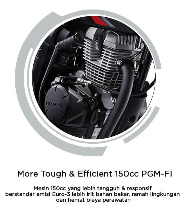 More Tough & Efficient 150cc PGM-FI
