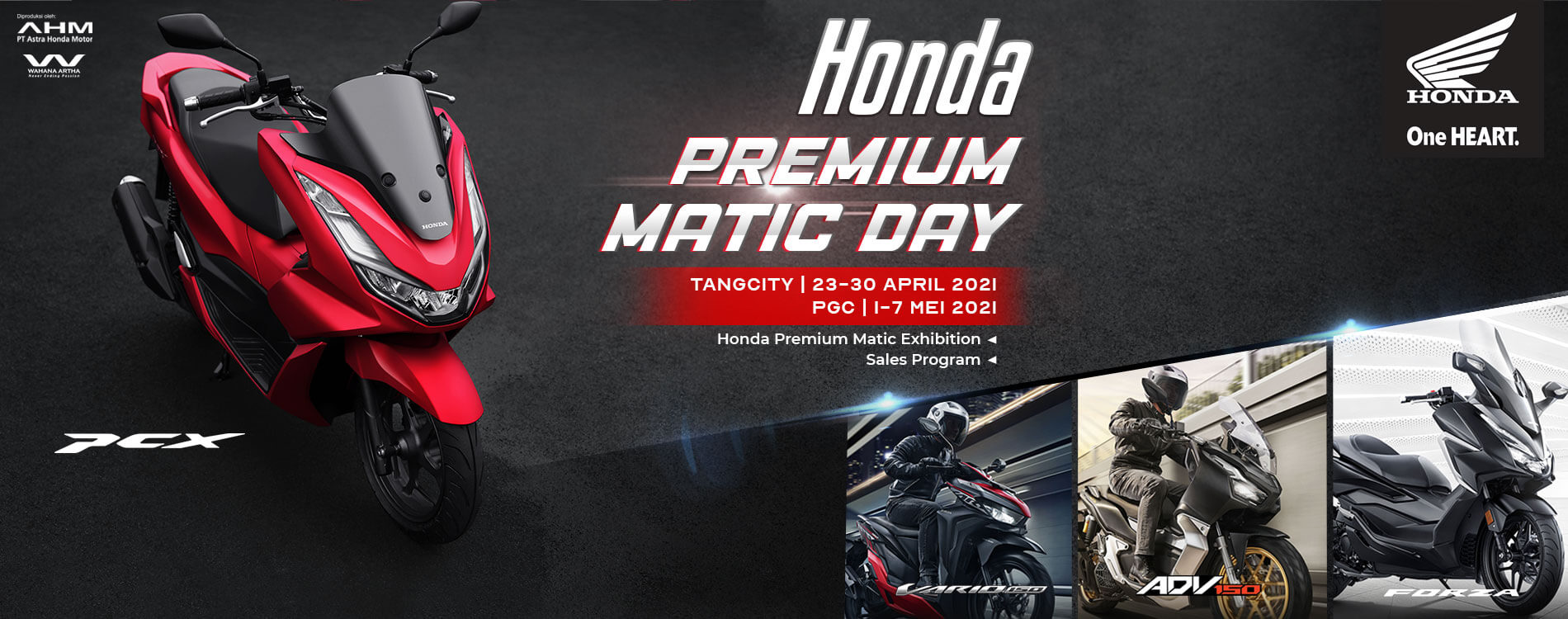 Honda Premium Matic Day - 23 April - 07 Mei 2021