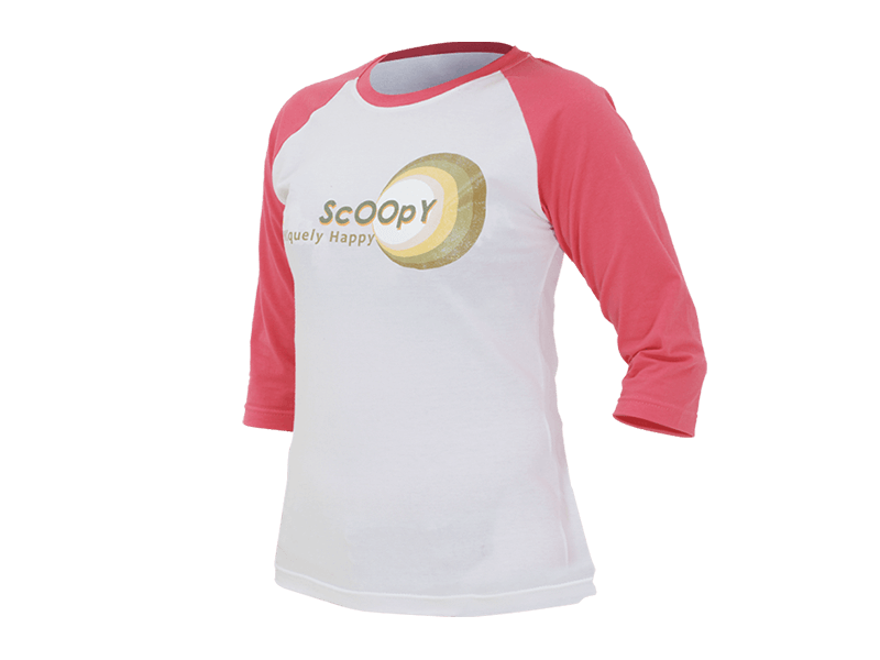 SCOOPY T-SHIRT WHITE PINK