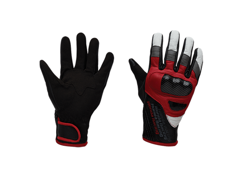 RACING RED LEATHER GLOVE