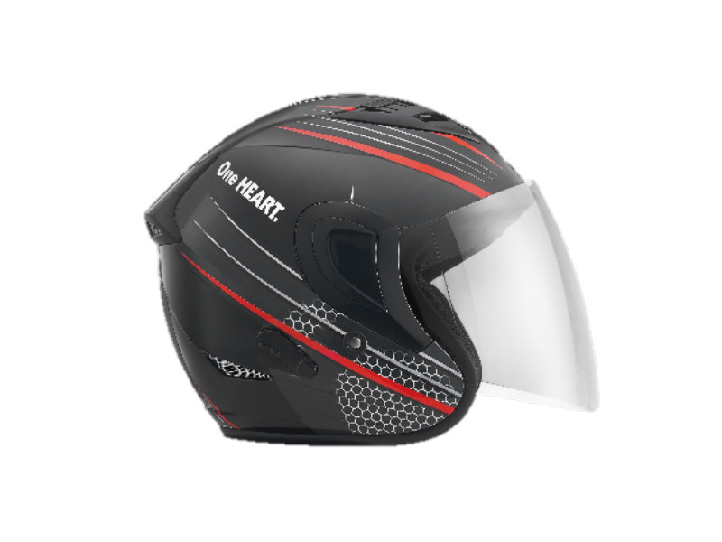 HONEYCOMB BLACK RED HELMET