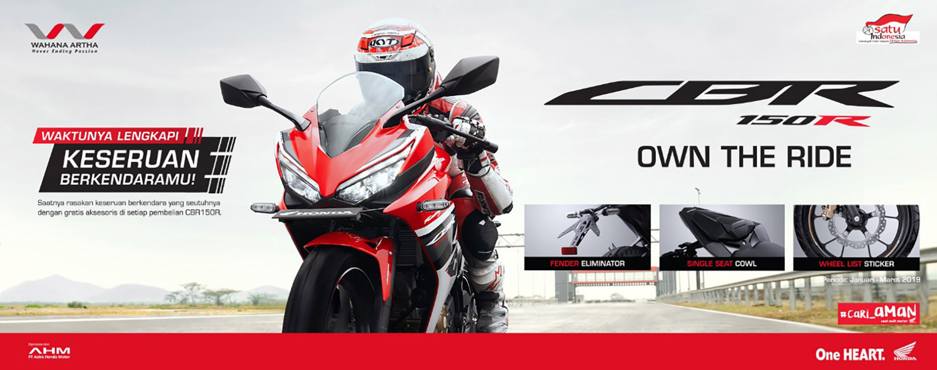 Direct Gift Aksesoris CBR150R Jan - Mar 2019