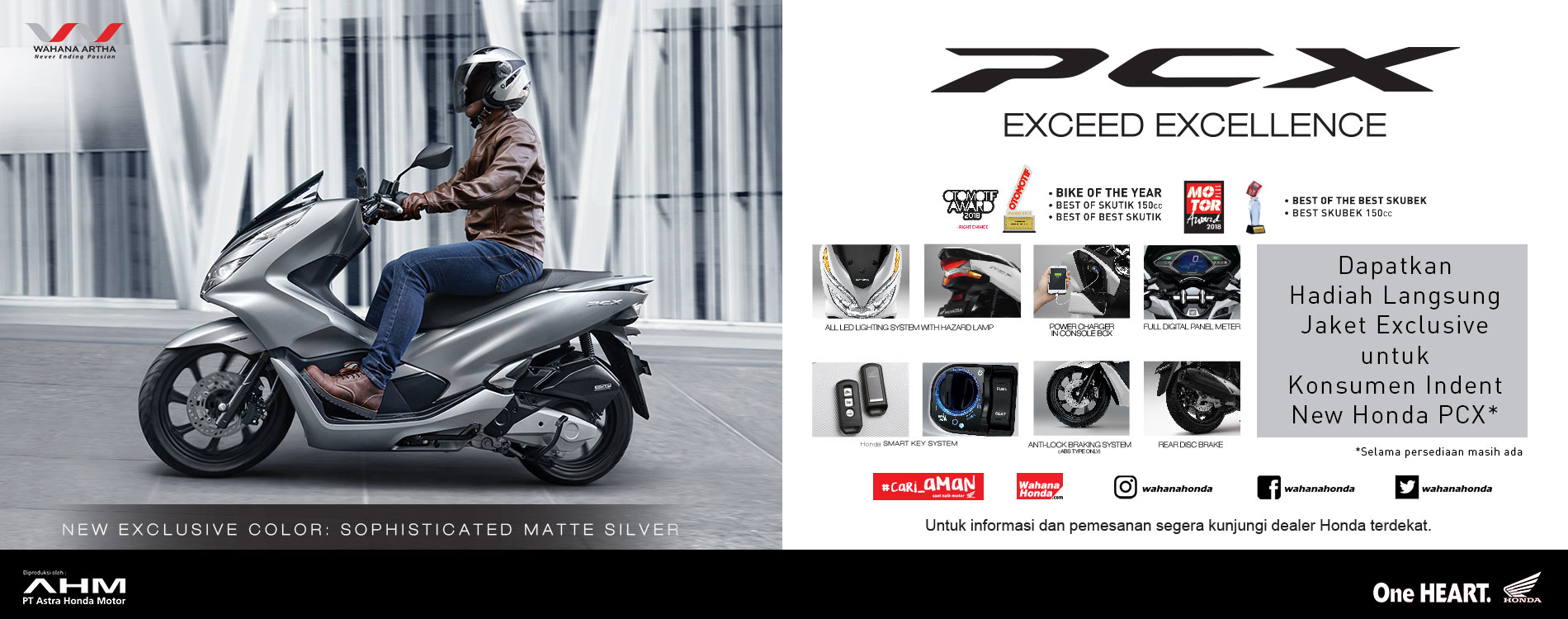 Direct Gift Helm Direct Gift Jaket PCX - Maret 2019