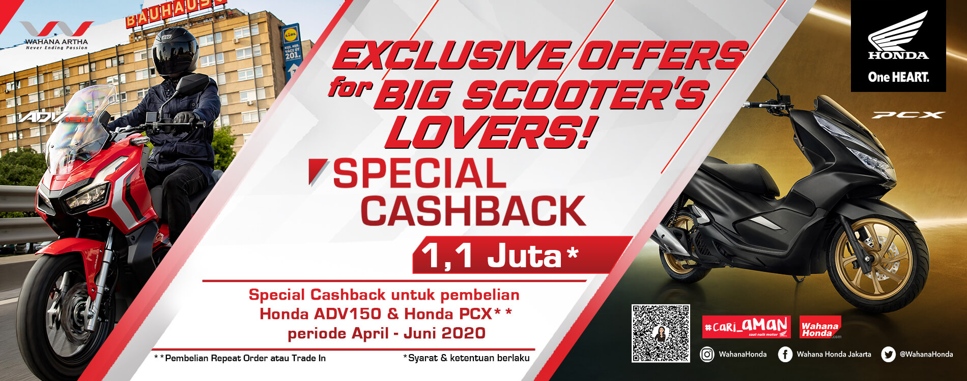 Exclusive Offers For Big Scooter's Lovers - Special Cashback 1,1 Million Periode April - Juni 2020