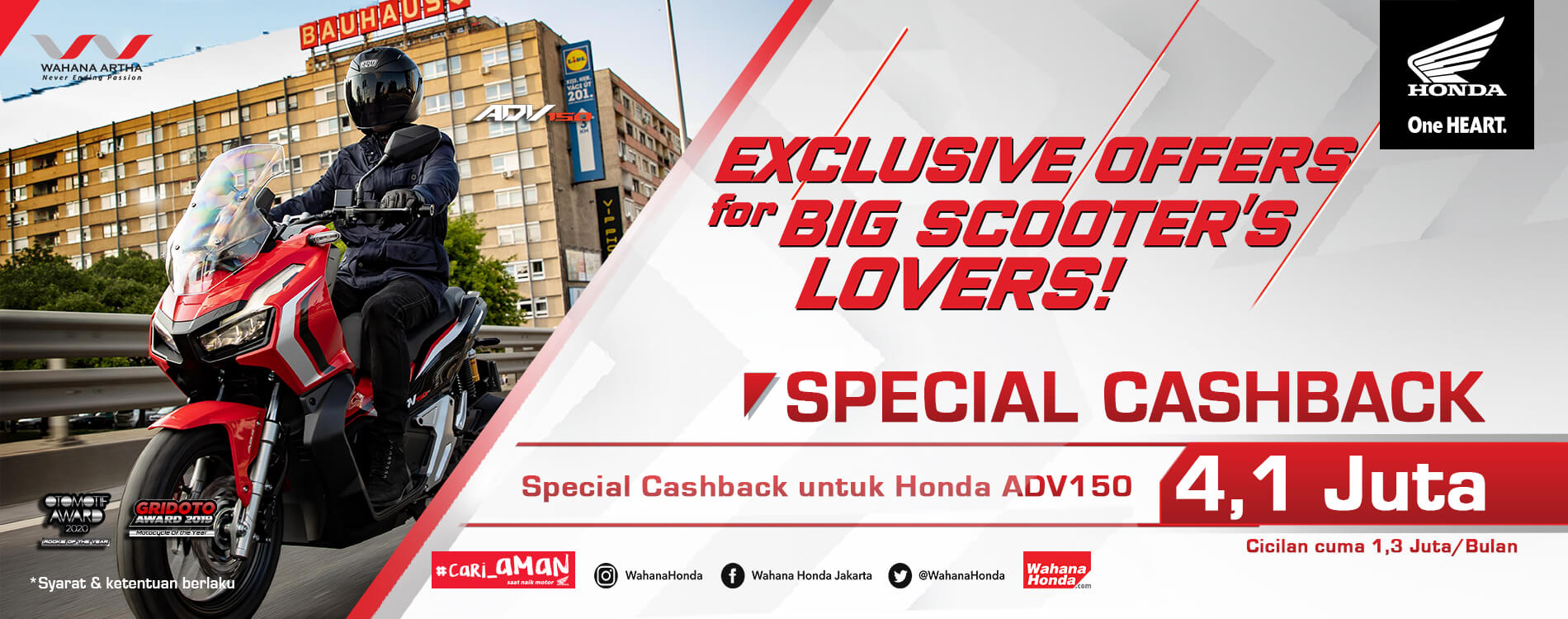 Exclusive Offers For Big Scooter's Lovers ADV150 4.1 Juta (26 Mei - 30 Juni 2020)