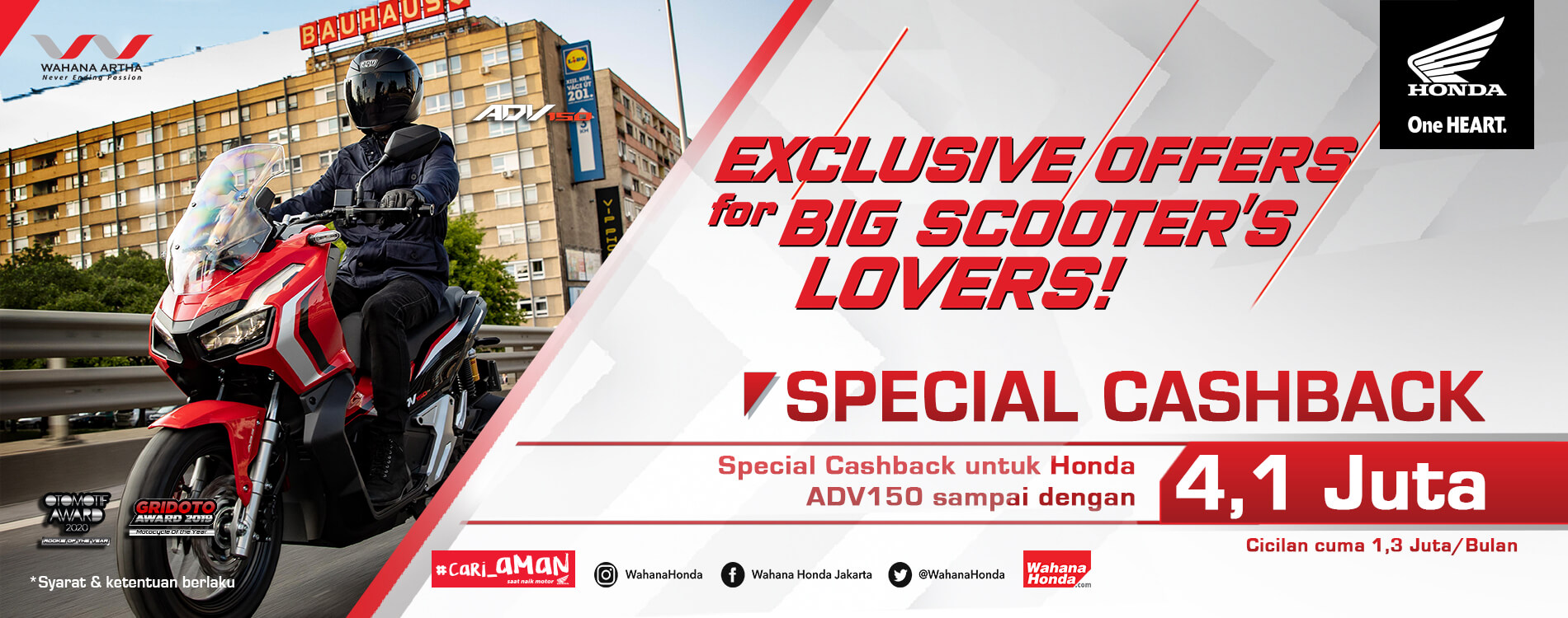 Exclusive Offers For Big Scooter's Lovers ADV150 (Juli - Sep 2020)