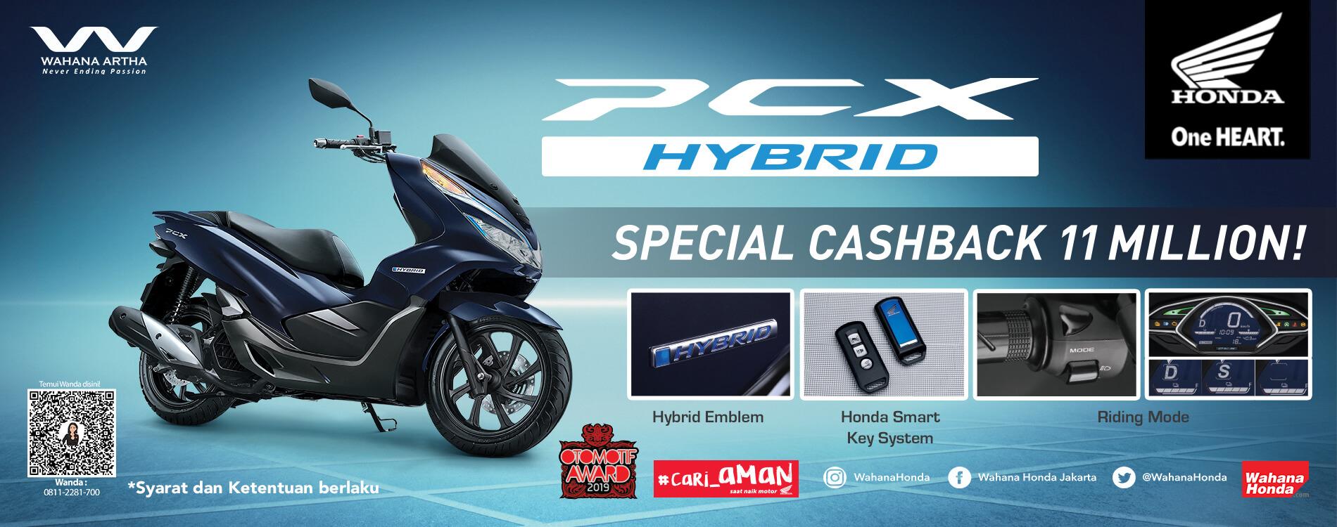 PCX Hybrid Cashback 11 Million (September - Desember 2020)