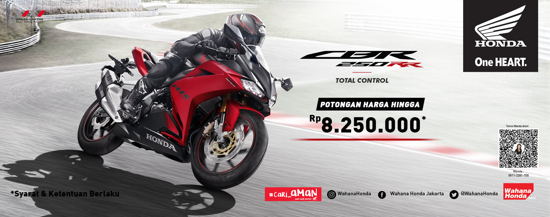 Promo Honda CBR250RR Periode Maret 2021