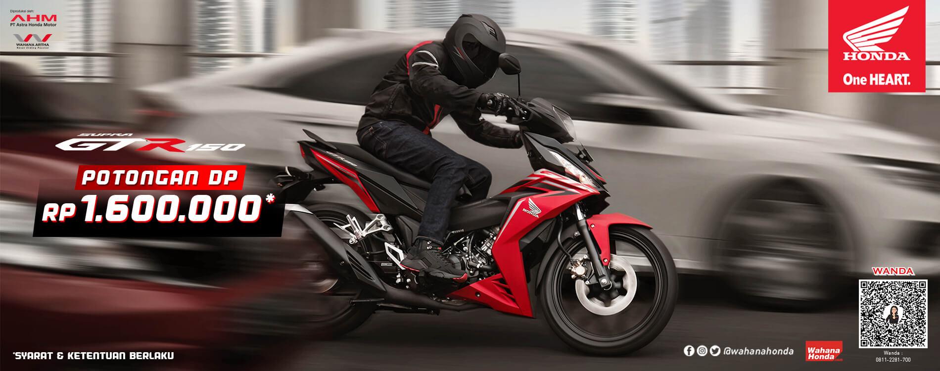 Promo Honda Supra GTR150 - Periode Mei 2021