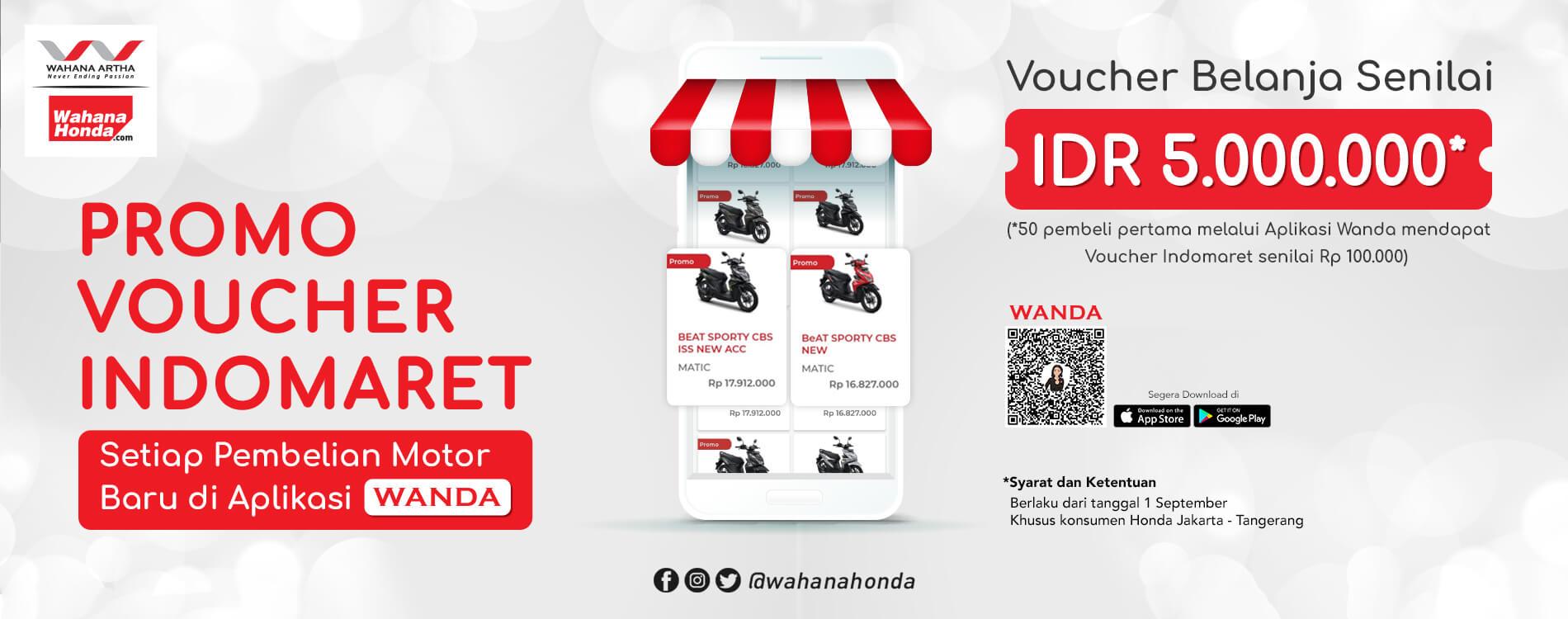Promo Voucher Indomaret – Pembelian Motor Baru Di Aplikasi Wanda